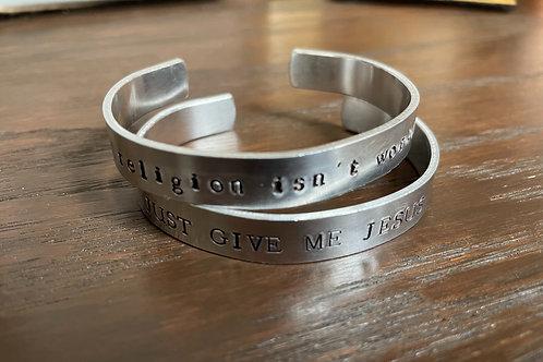 """Religion Isn't Working"" Bracelet Set"