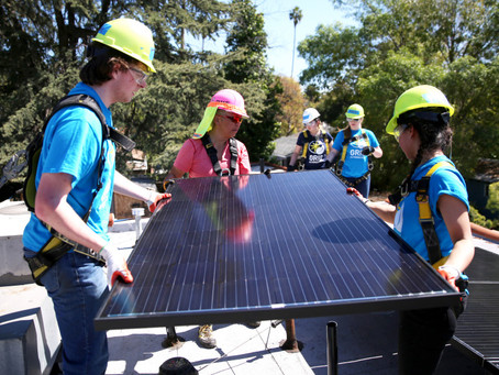 Spring break in Pasadena? For MIT students installing solar panels, it's a way to give back