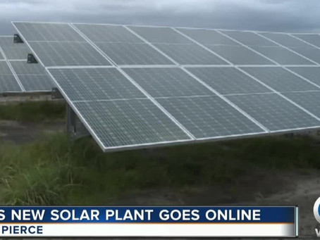 New Florida Power and Light solar power plant generating energy in St. Lucie County