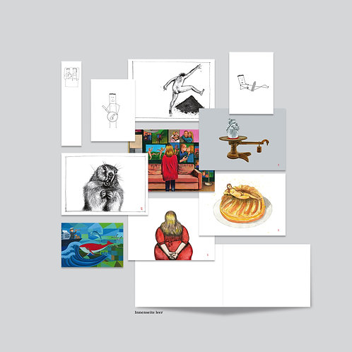 Kunstkarten «Die guten Seiten» 10-teiliges Set auf hochwertigem Papier