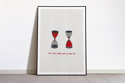 Digital Print «Ich bin jung und du bist alt»