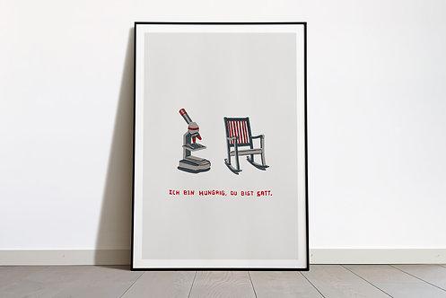 Digital Print «Ich bin hungrig, du bist satt»