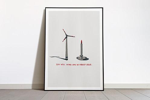 Digital Print «Ich will Wind und du willst Stille»
