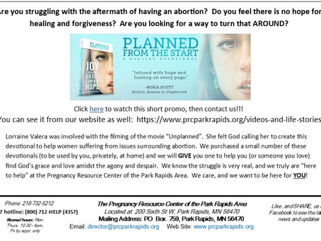 A new devotional to help those who suffer the effects of abortion...