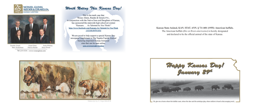 2016 Kansas Day Card