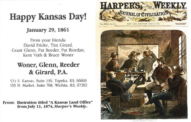 1998 Kansas Day Card