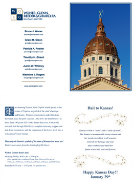 2014 Kansas Day Card