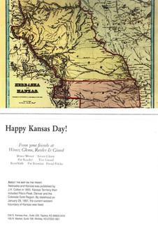 1997 Kansas Day Card
