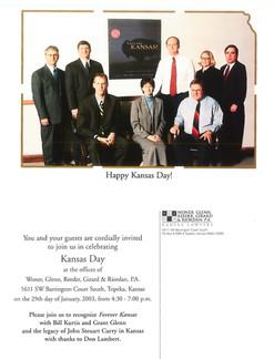 2003 Kansas Day Card
