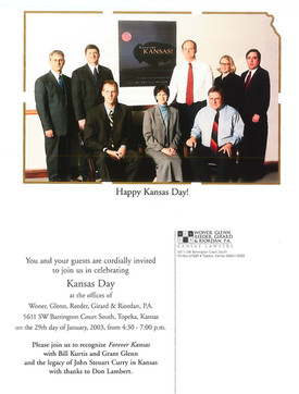 2003 Kansas Day Card