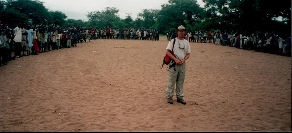 James Avery in South Sudan, Africa