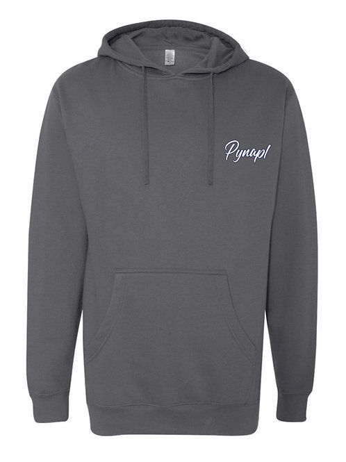 Charcoal Hoodie with 3D Embroidery