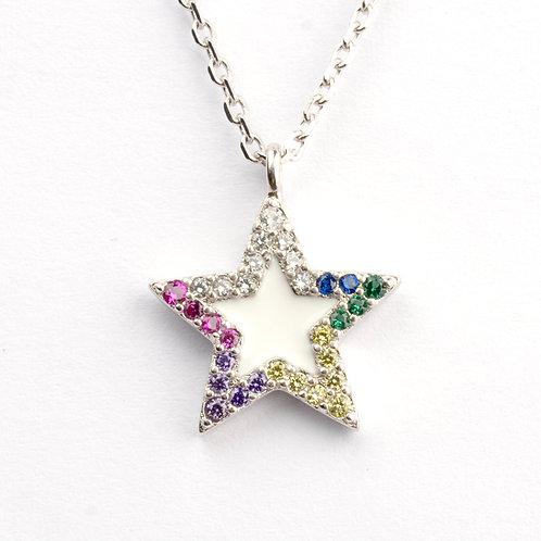 Gargantilla de plata .925 Estrella