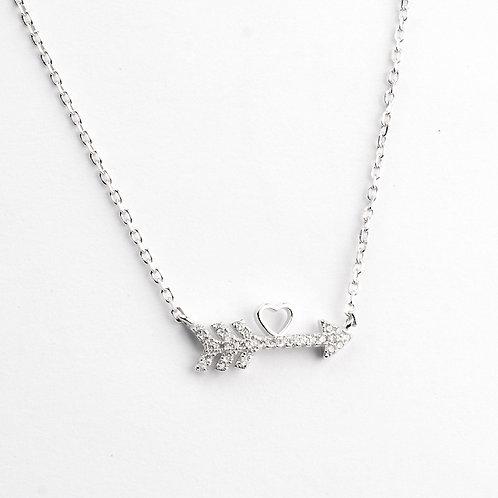 Gargantilla de plata .925 Corazón y Flecha