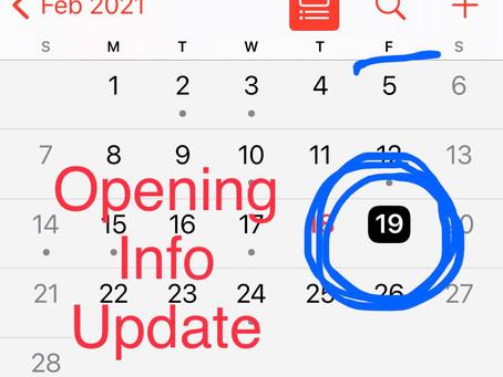Closing/Opening Updates