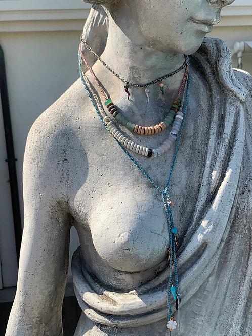 Collana perline colorate