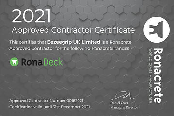 2020 Approved Contractor Certificate - E