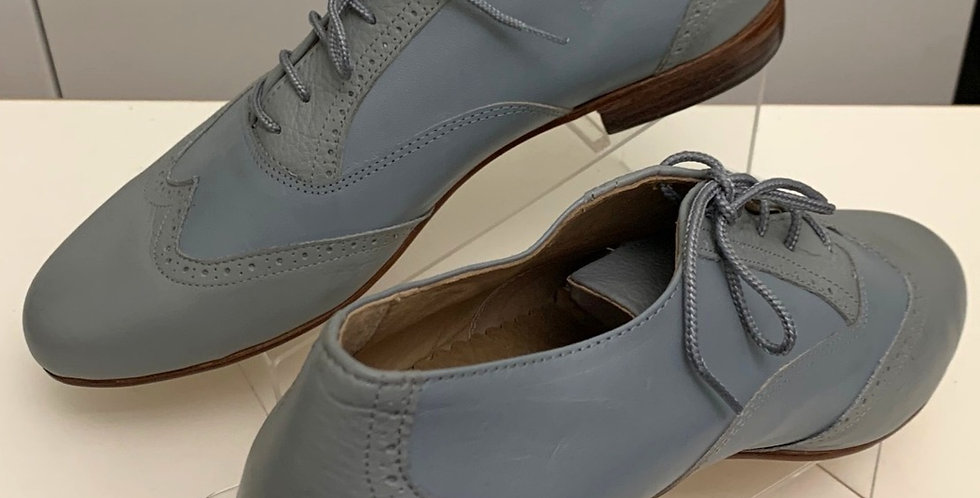 Fabio Light Blue with Grey - Hard Leather Sole