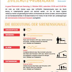 Zivilschutz-Probealarm