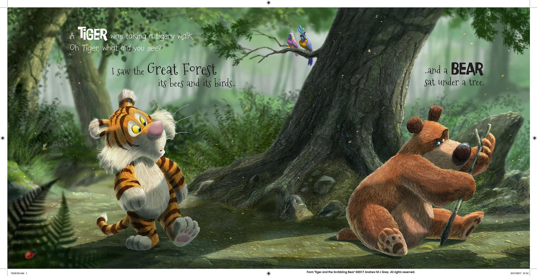 Tiger & the Scribbling Bear