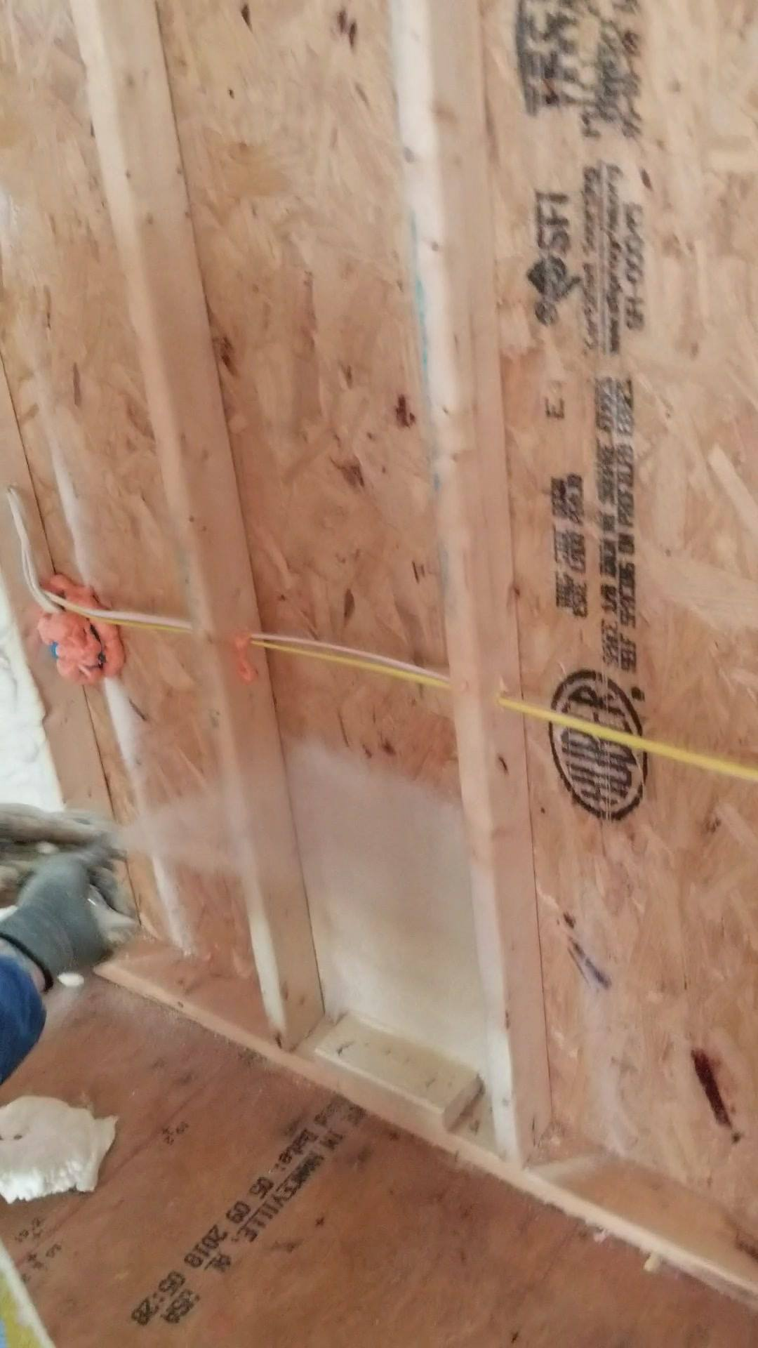 Atlanta GA. Playing with our super foam insulation.