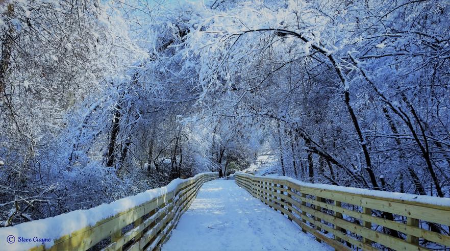 Snow Coverage Bridge