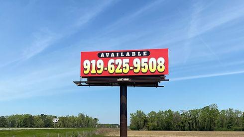 Billboards in Jacksonville, North Carolina