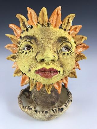 Sun Burn Flower Pot