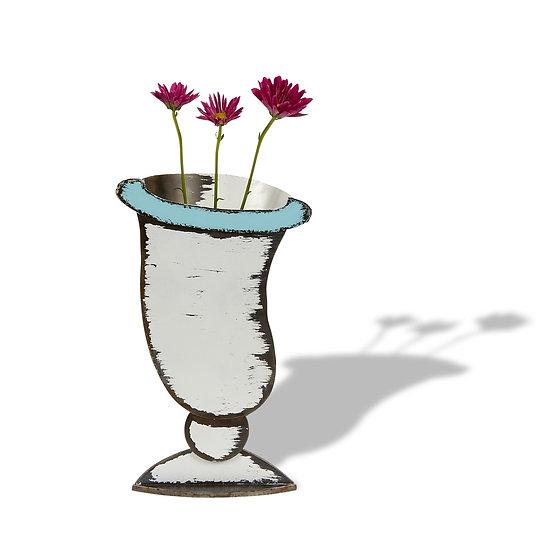 """""""Saucy"""" Sculptured Metal Vase"""