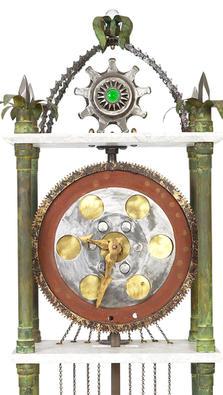 Time Machine Grandfather Clock detail