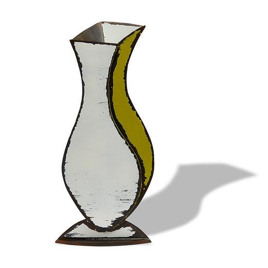 """""""Ginger"""" Sculptured Metal Vase"""