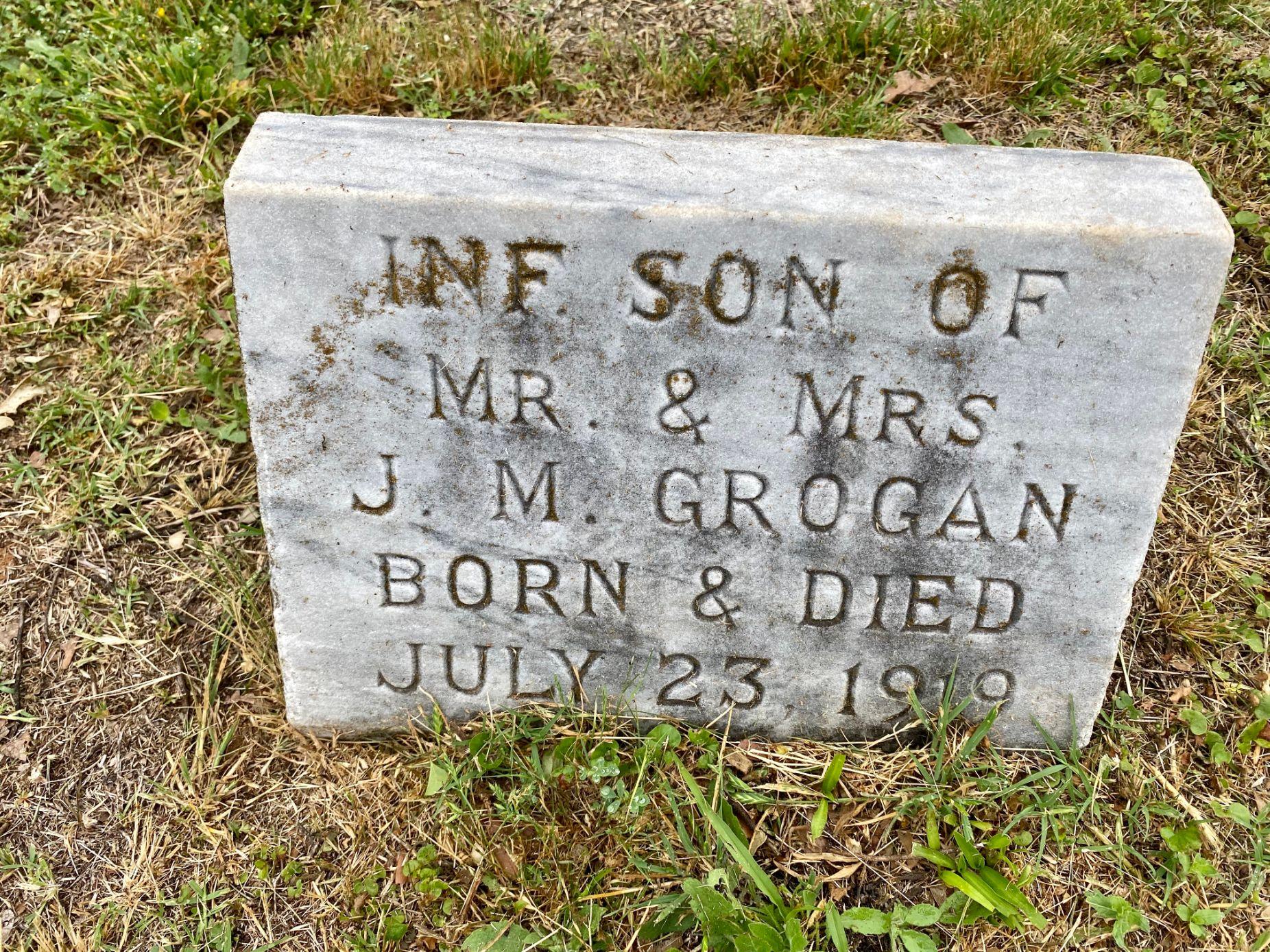 Infant Son of Mr. & Mrs. J.M. Grogan