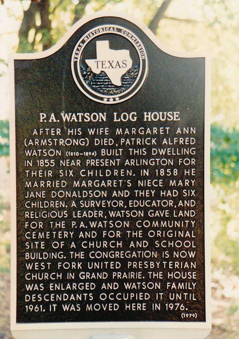 P.A. Watson Log House