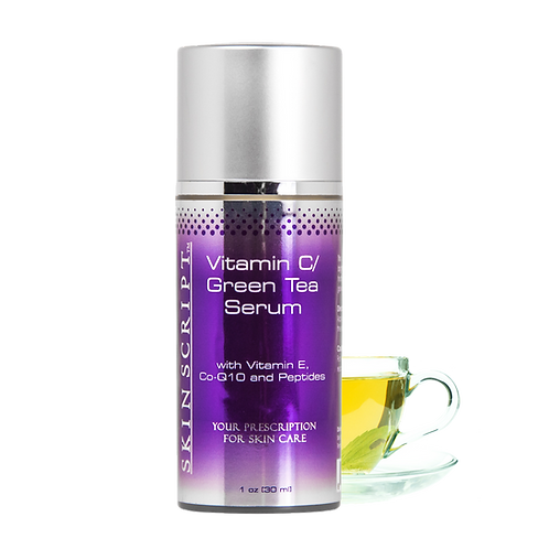 15% Vitamin C/Green Tea Serum with Vitamin C, CoQ10, and Peptides