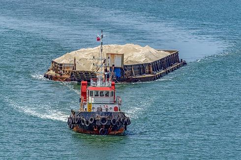 ug Boat Towing Barge