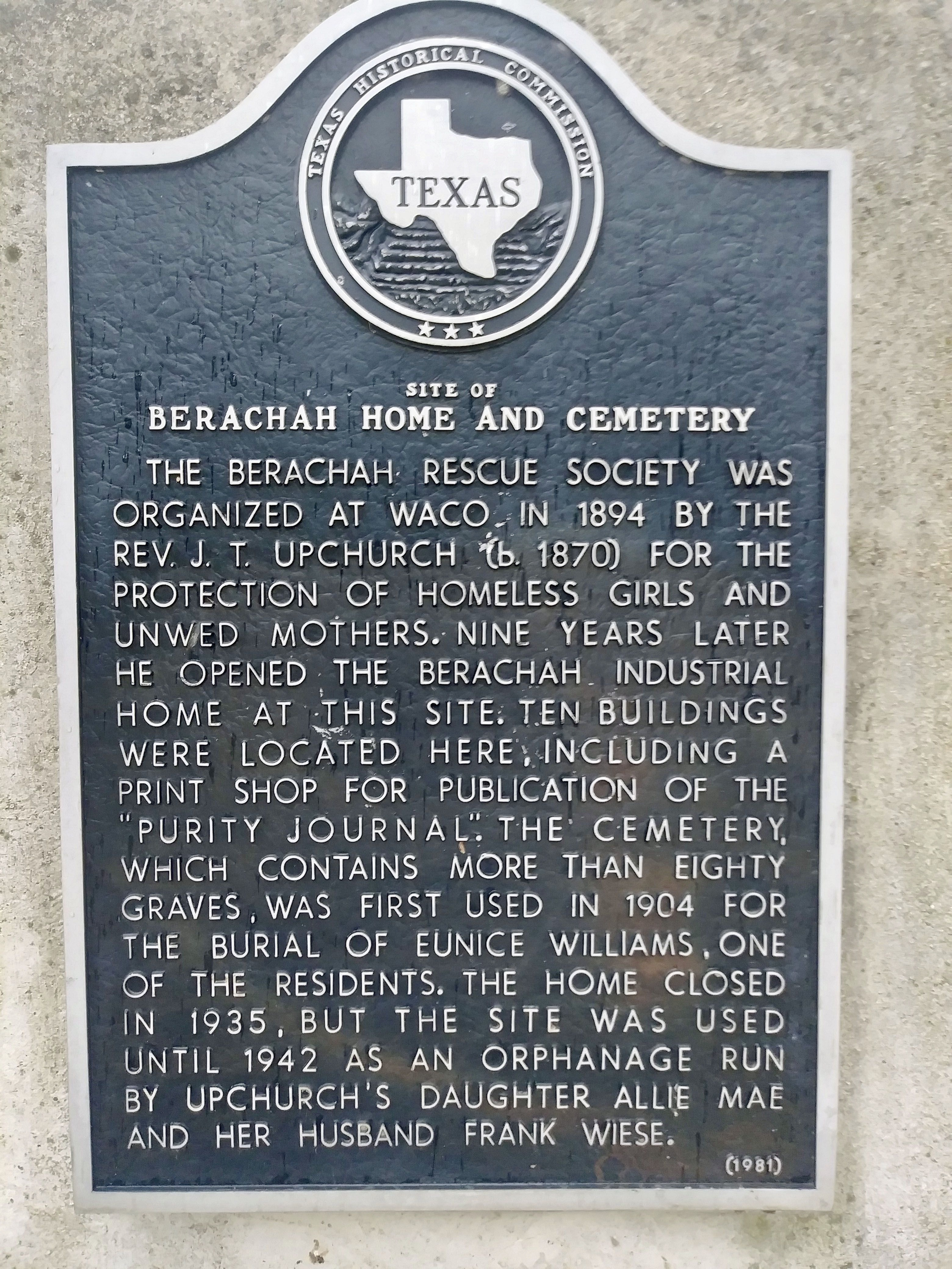 Berachac Home and Cemetery