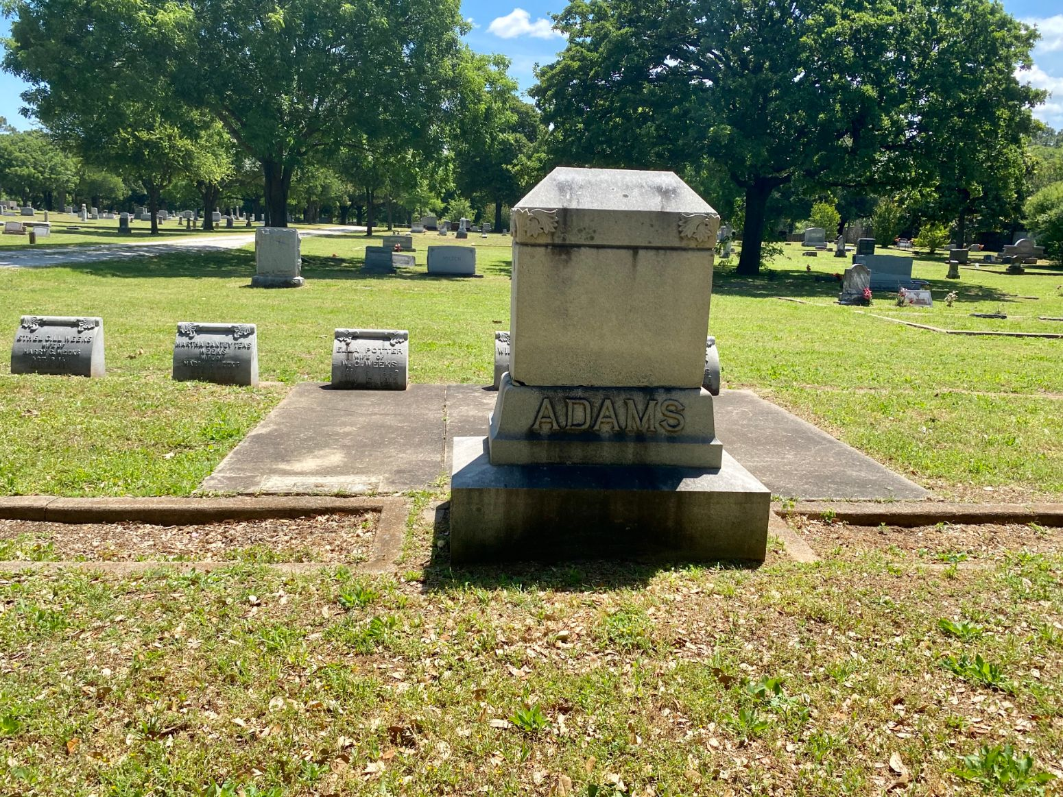 Adams Family Plot