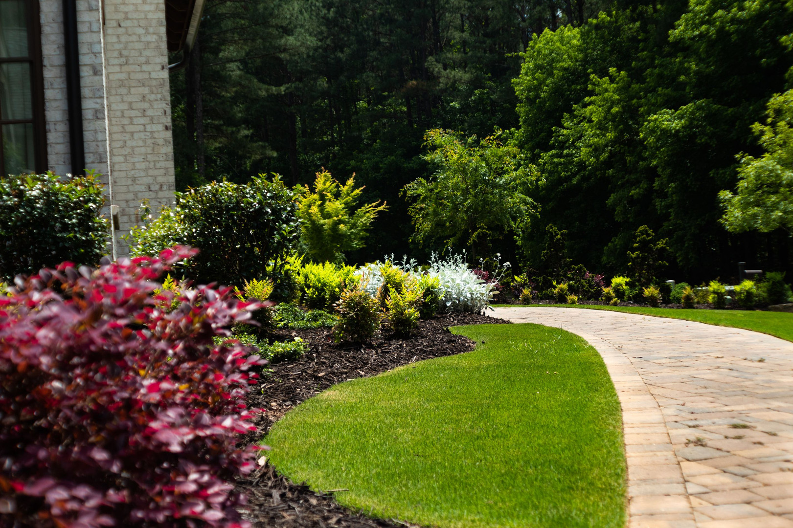 Residential Landscaping Winding Path