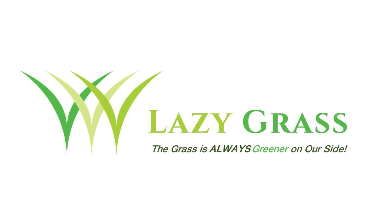Lazy Grass Logo Cinzel