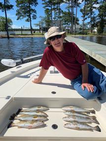 Pungo Charters Fishing Trips on Pungo Ri