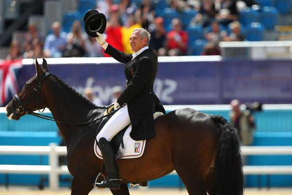 Carl Bouckaert  riding Cyrano Z in the London Olympics