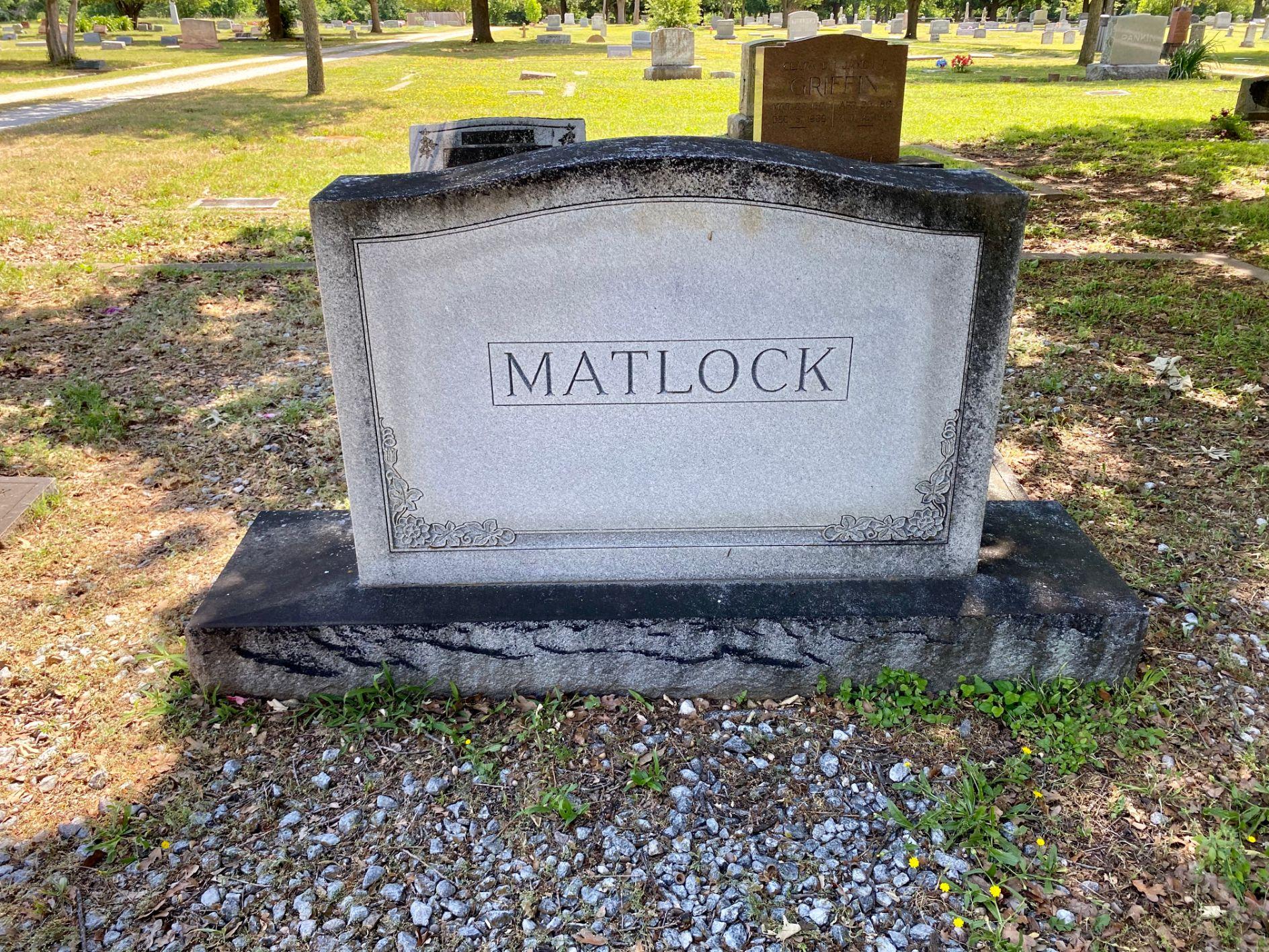 Matlock Family Plot