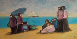 Immigrants at the Beach (SOLD)