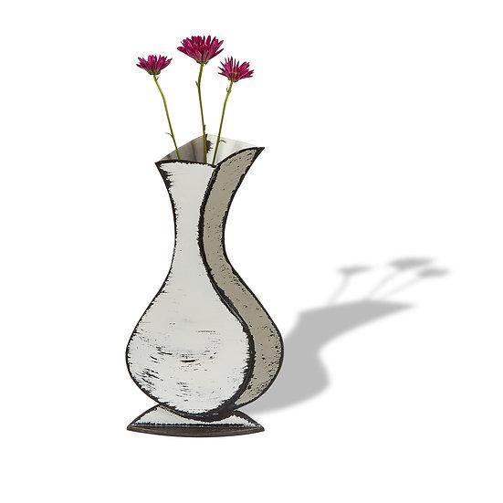 """""""Lulu"""" Sculptured Metal Vase"""
