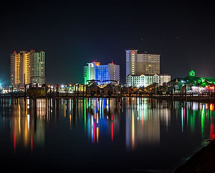 Pensacola skyline at night
