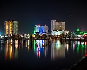 Pensacola skyline at night