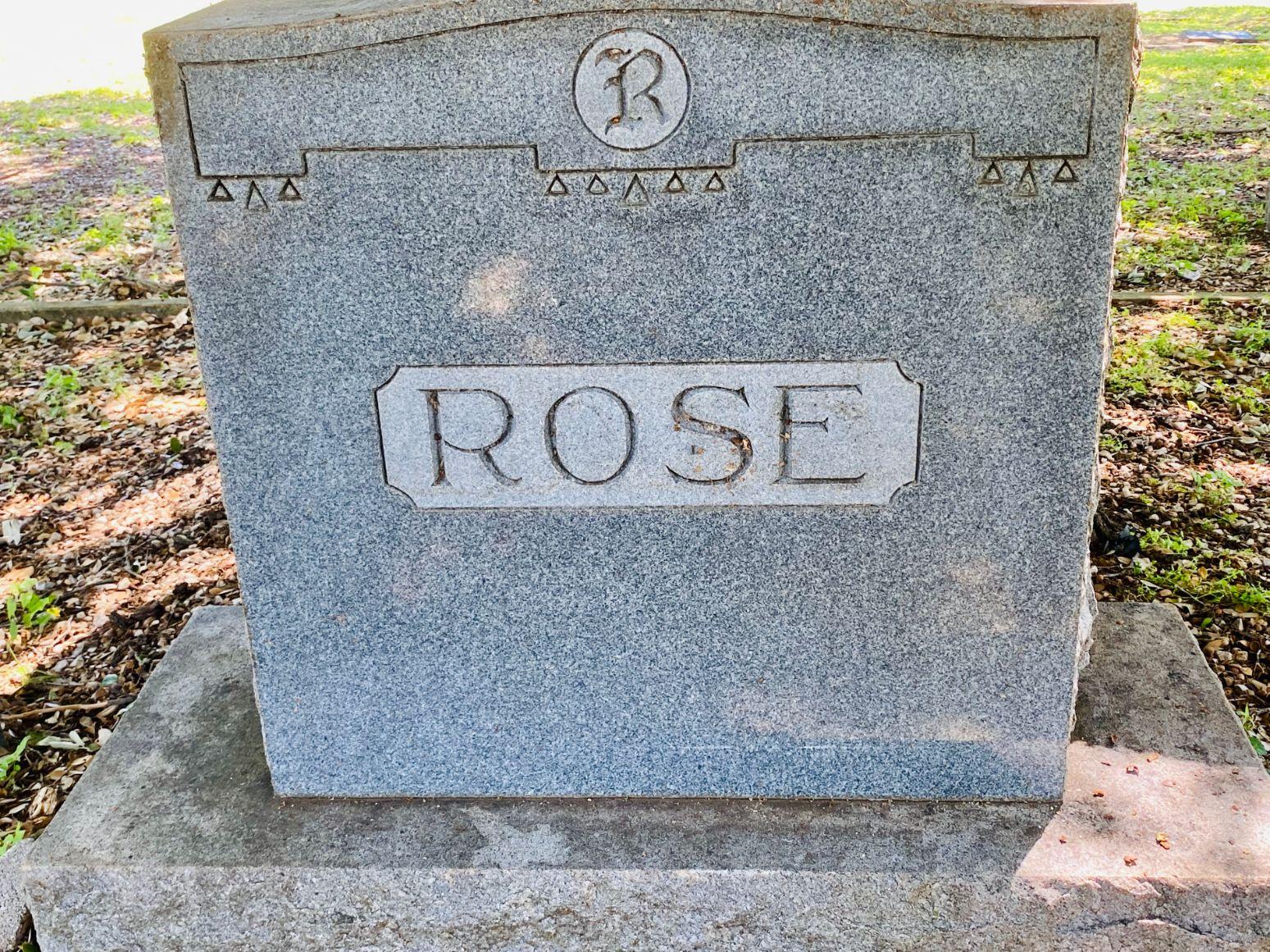 Rose Family Plot