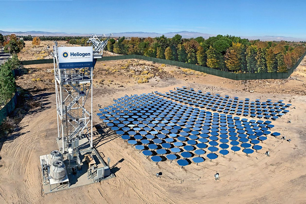 Heliogen says the intense heat from its solar operations can be collected and processed to generate electricity, power industrial processes or produce hydrogen fuel—even when the sun goes down. PHOTO: HELIOGEN