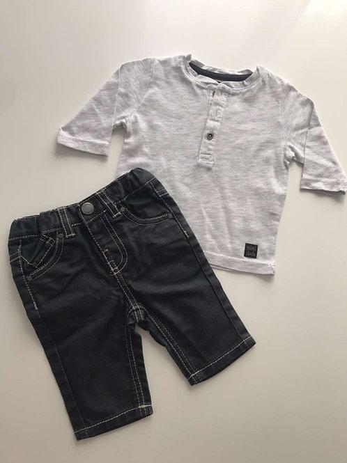 T-shirt & Jean ciré 1 mois