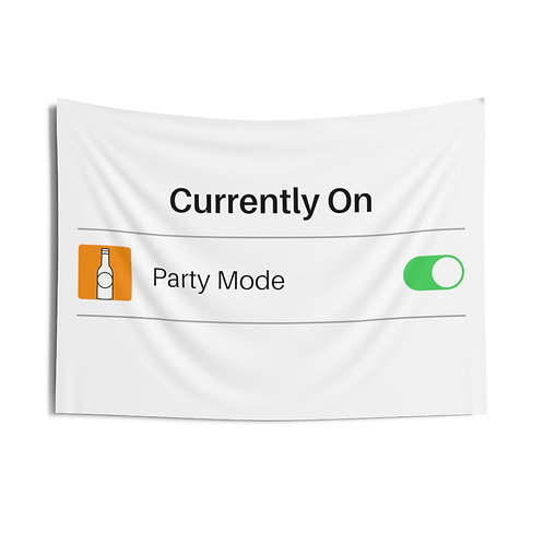 Party Mode Indoor Wall Tapestry